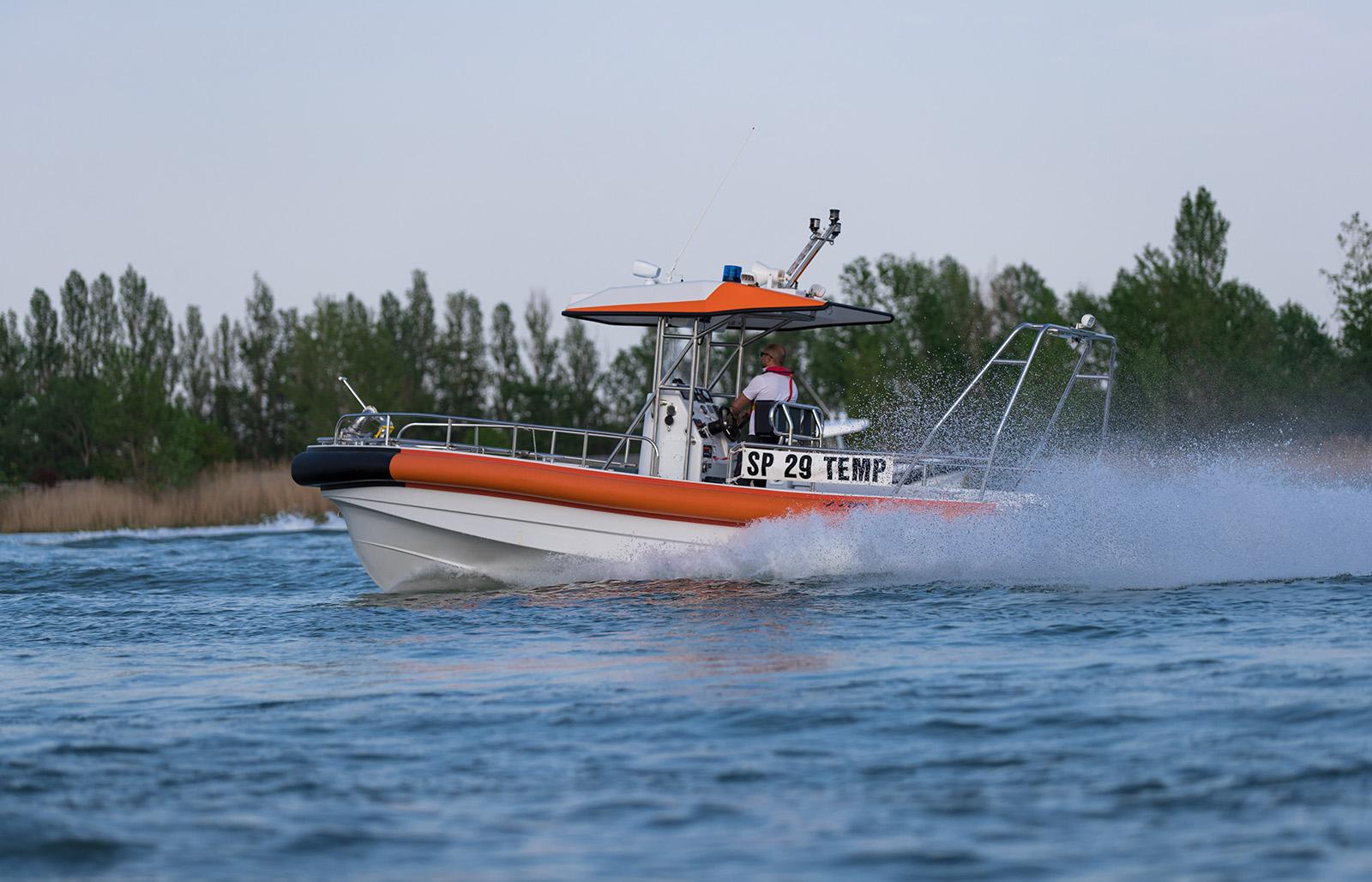 Battello a idrogetto per soccorso e antincendio Rescue 750 Jet