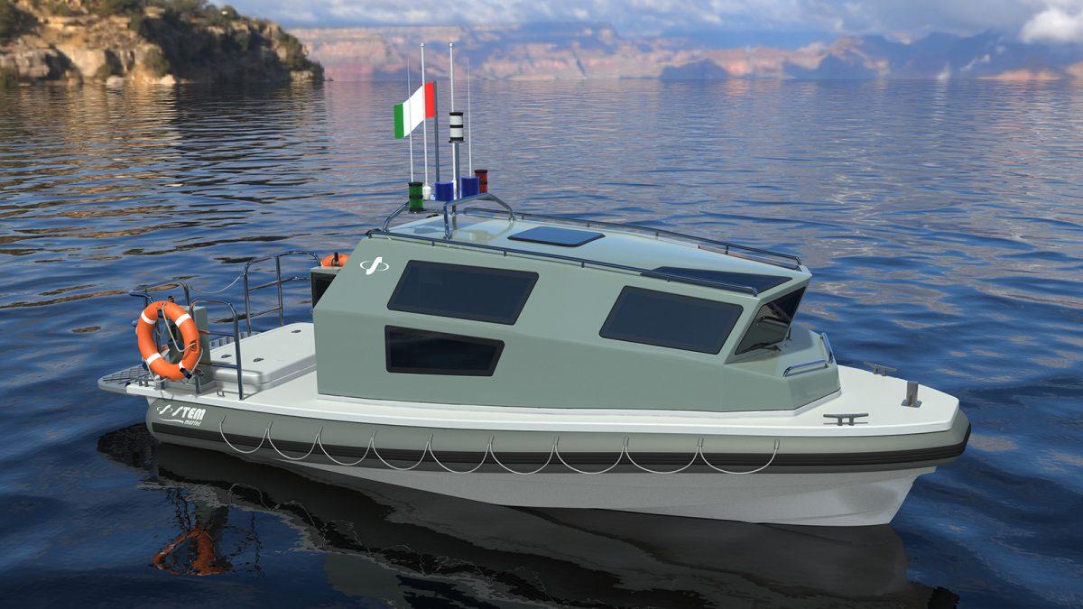 Battello cabinato per pattugliamento Stem 750 Patrol