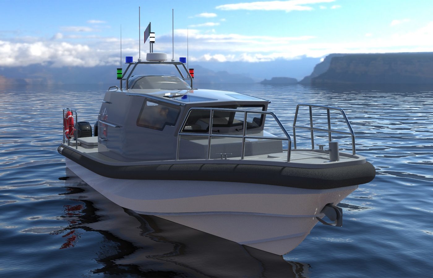 Battello cabinato per pattugliamento Stem Ten Patrol